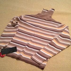 Relativity Striped Turtleneck Sweater S NWT